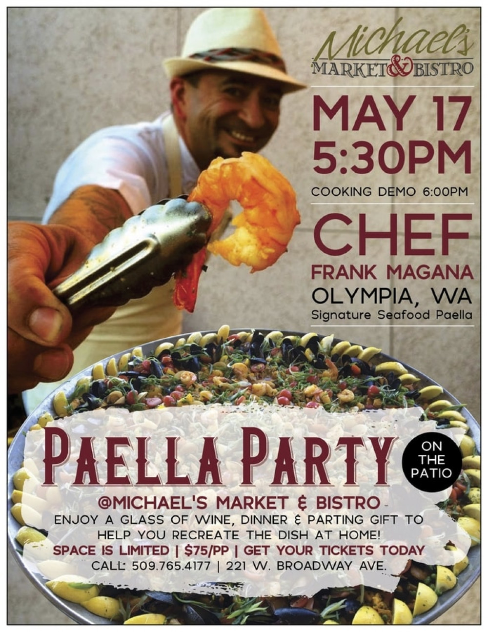 Paella Party on the Patio