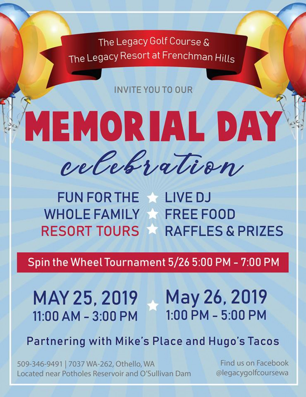 The Legacy Golf Course hosts the 2nd Annual Memorial Day Celebration