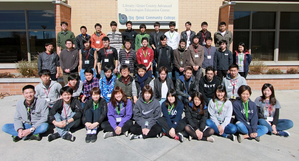 The 2017 Japanese Agricultural Training group outside of the ATEC Building on the Big Bend campus.