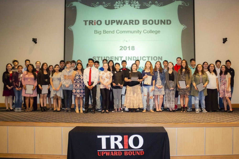 TRiO Upward Bound inducted 40 high school students into its program during a special ceremony at Big Bend Community College Tuesday night.