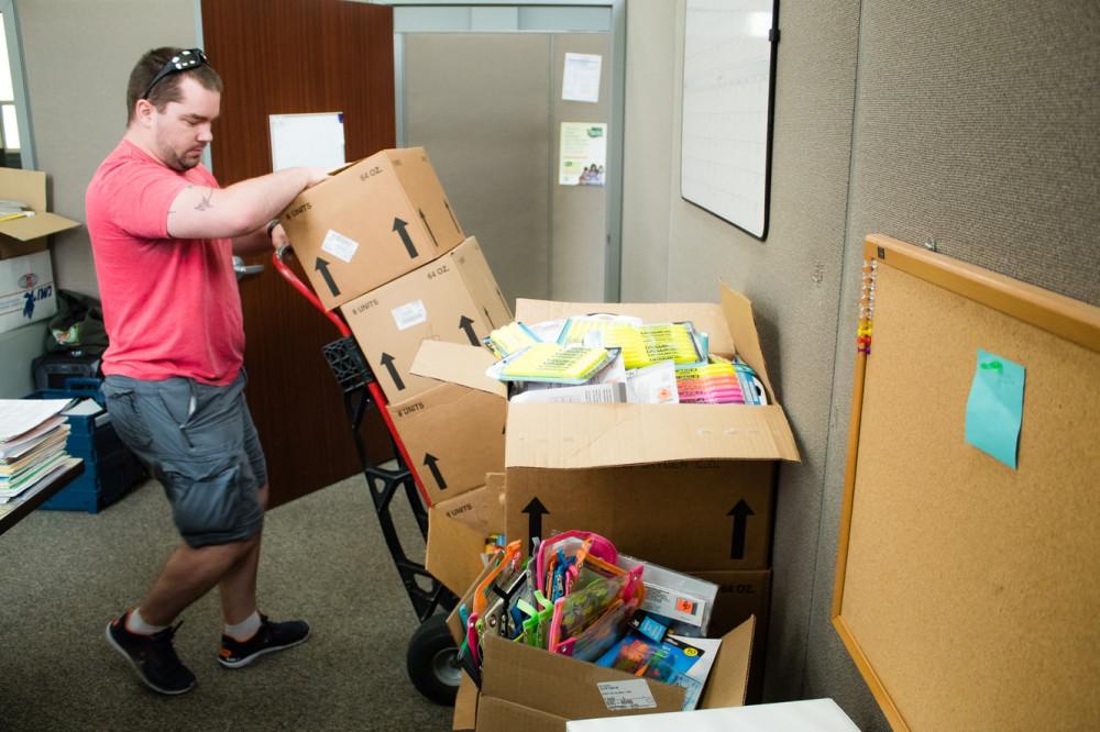 Back-to-School Brigade distributes school supplies