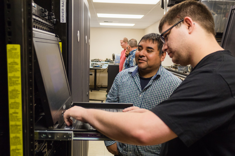 Big Bend Community College Systems Administration students now have a realistic data center learning environment thanks to a generous donation by Quincy-based Stetner Electric.
