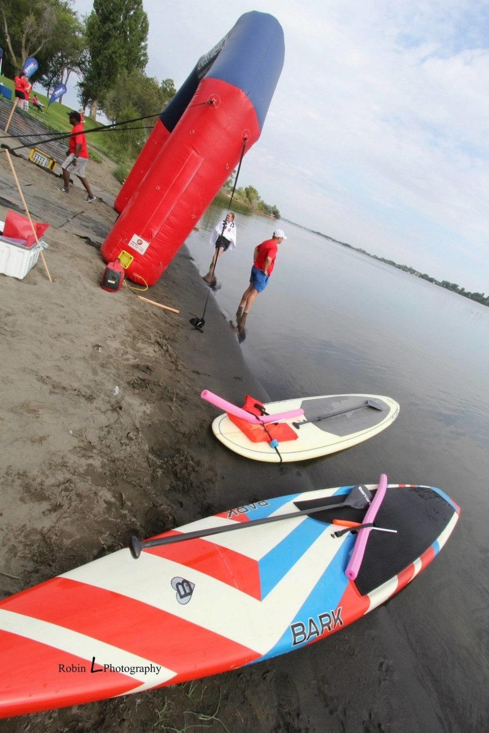 Bob Johnson paddle boards ready to go