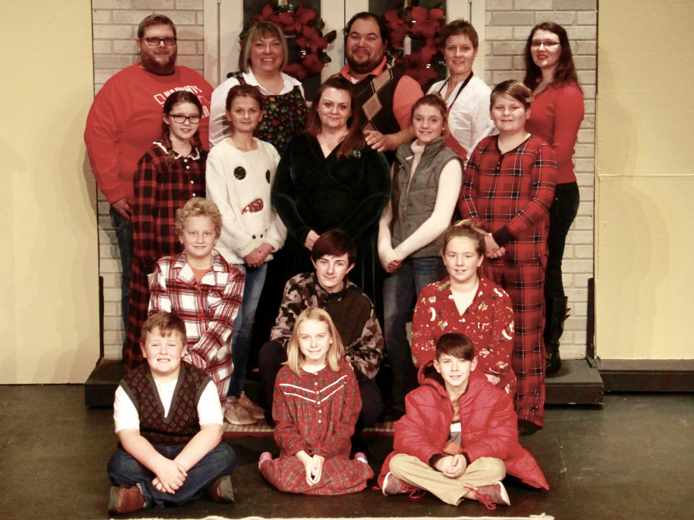 The cast of live theater performers for The Rented Christmas