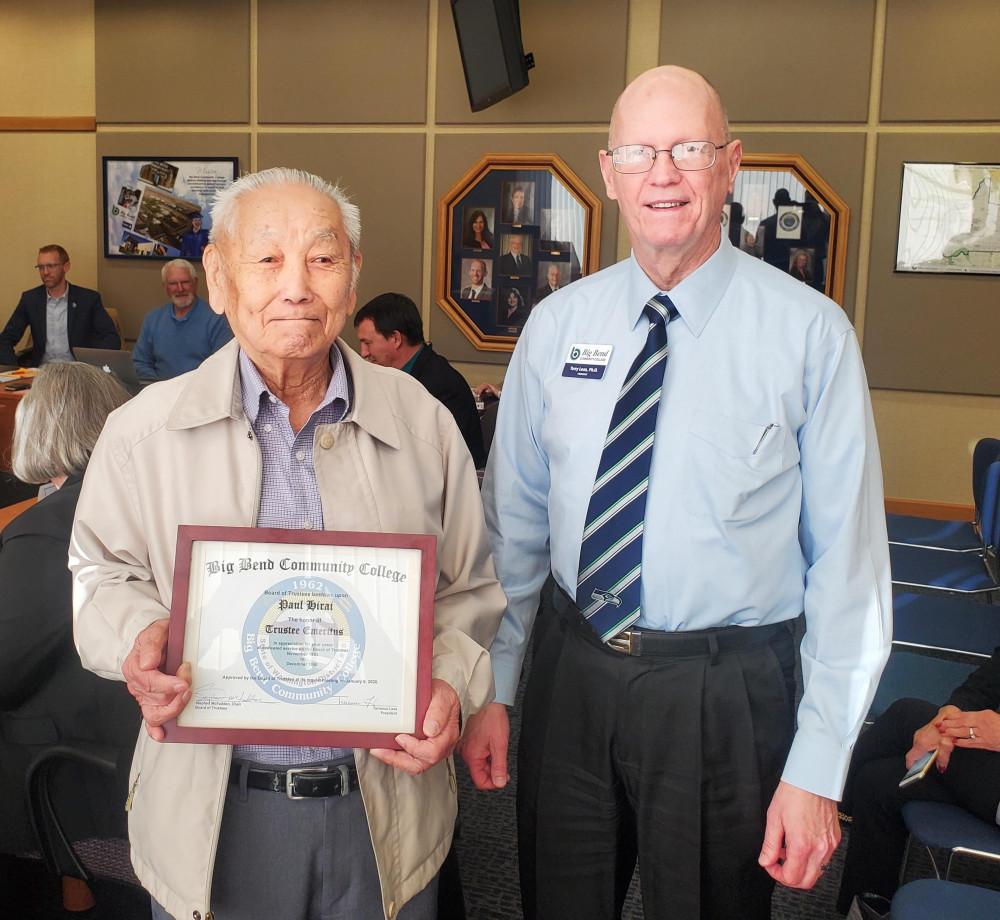 BBCC Emeritus status granted to Paul Hirai