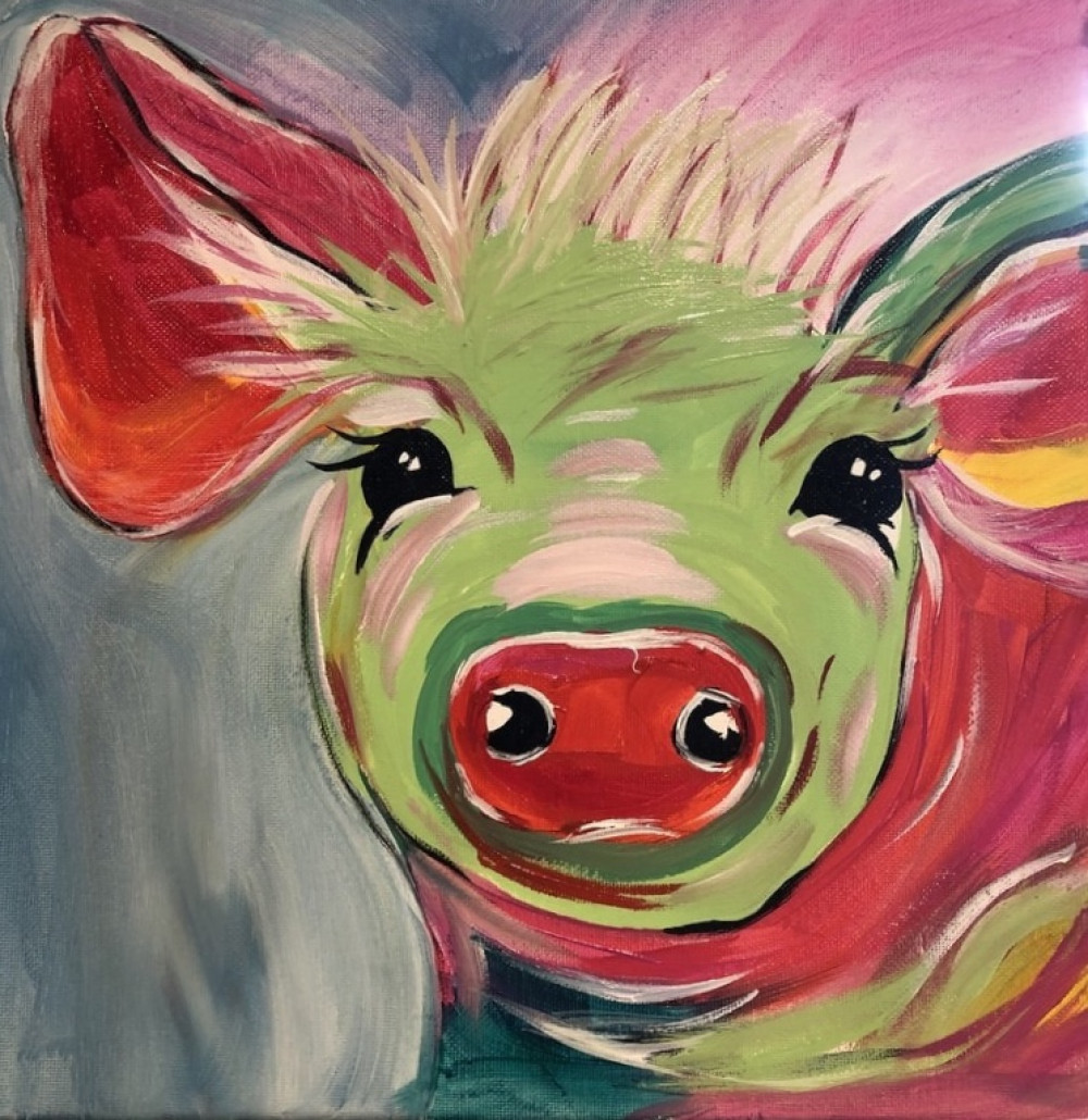 Painting animals? Here's a pig that you can try!