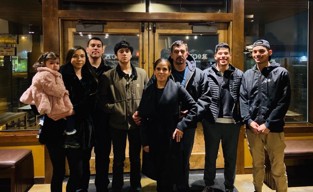 Lilly, Neena, Roman, Demetrio, Eva, Roman Sr., Omar and Henry