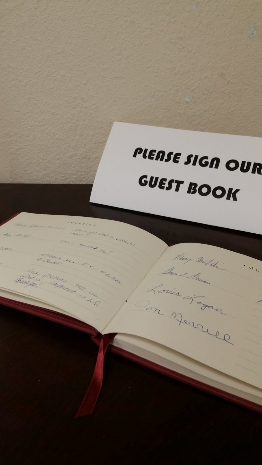 Ty Ballinger's guest book