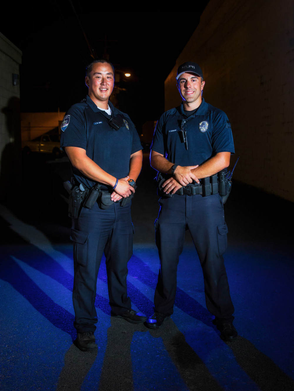 Officer T. St. Onge, Officer C. Ledeboer of Moses Lake Police Department